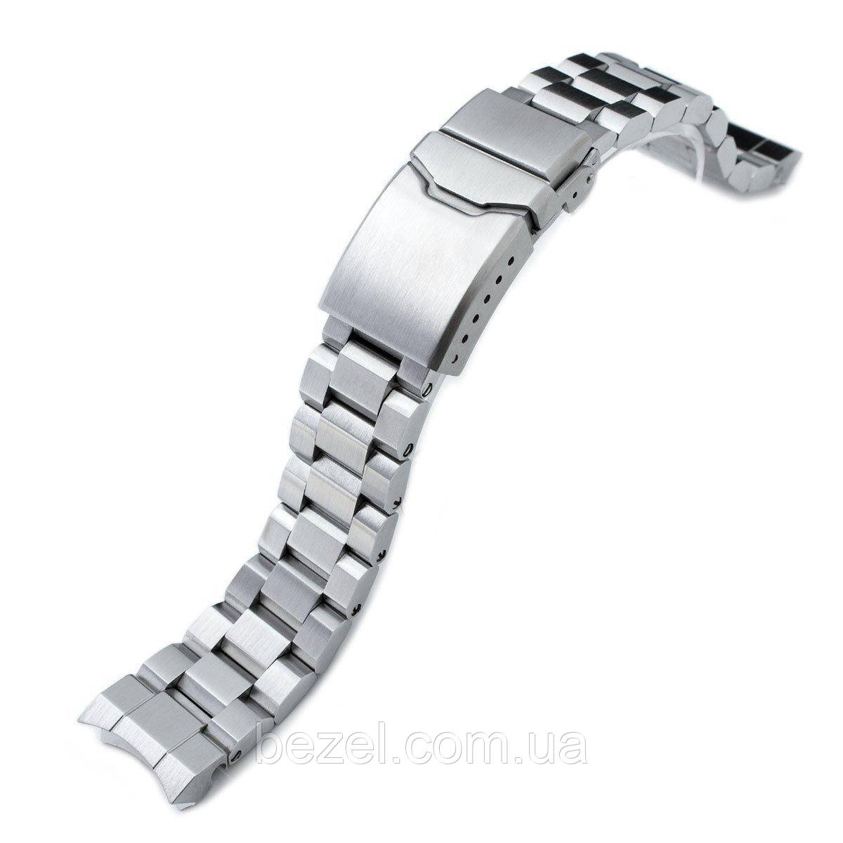 20mm Hexad Oyster 316L Stainless Steel Watch Band for Sumo SBDC001, Button Chamfer