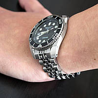 20mm ANGUS Jubilee 316L Stainless Steel Watch Bracelet for Seiko Sumo SBDC001, Brushed, Button Chamfer