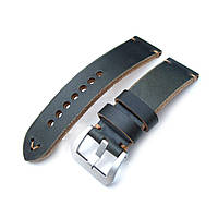 24mm MiLTAT Horween Chromexcel Watch Strap, Blackish Green, Brown Stitching, фото 1