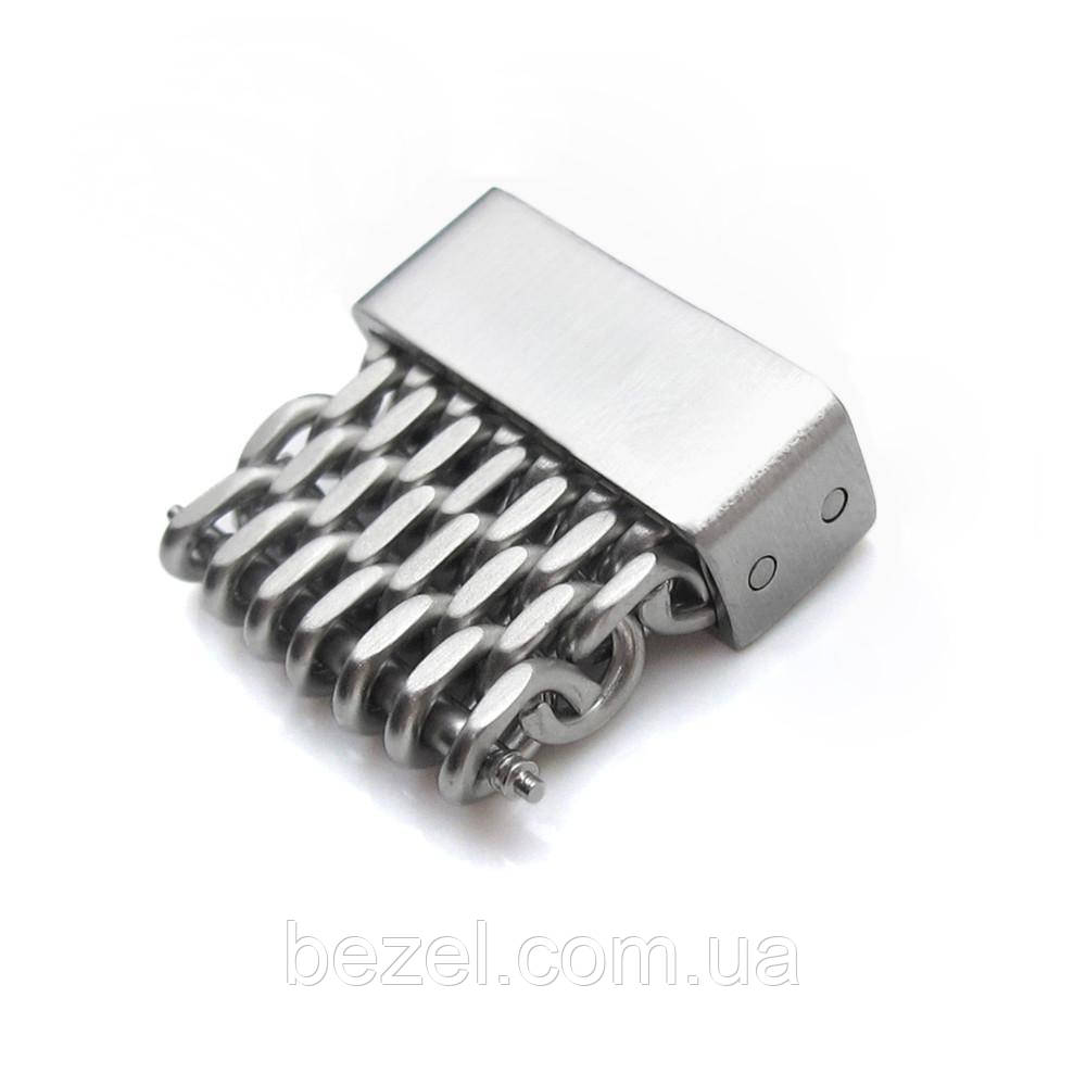 18mm, 20mm, 22mm or 24mm Stainless Steel mesh band extension piece, Brushed