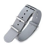 NATO 20mm G10 Military Watch Band Nylon Strap, Military Grey, Sandblasted, 260mm, фото 1