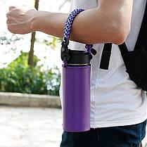 IPRee®EDCParacordCupHandleКемпинг Бутылка для воды Ремень Emergency Набор с Карабин компасом - 1TopShop, фото 3