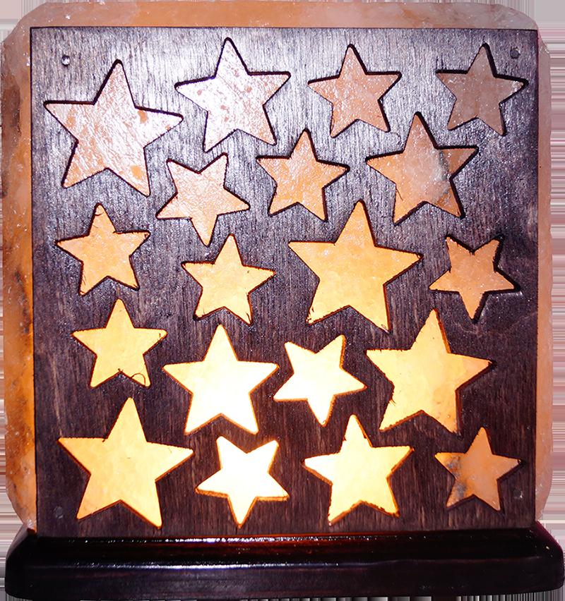 Соляная лампа Звездочки, 3-4 кг, (16*16*7 см)