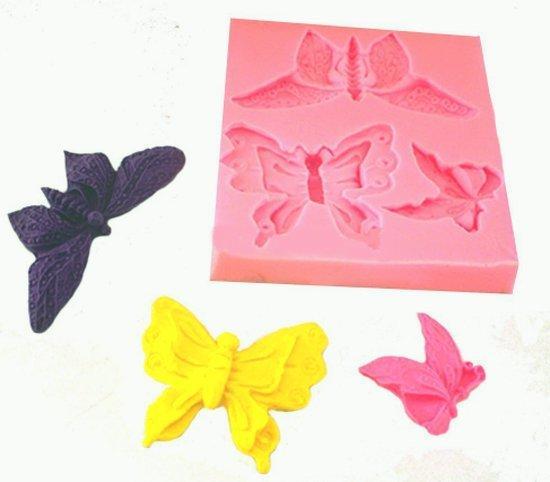 Силиконовый молд 8*8,5 см, Бабочки