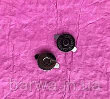 """Кнопка магнитная на """"усиках"""", 18 мм, цвет темный никель"""
