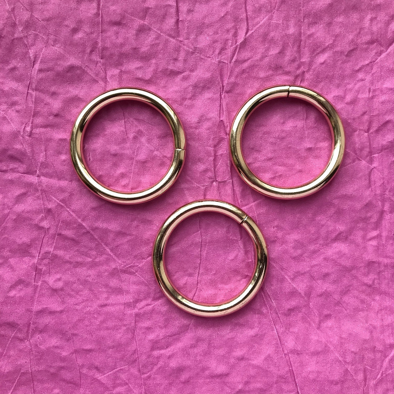 Кольцо соединительное, размер 30 мм, цвет золото