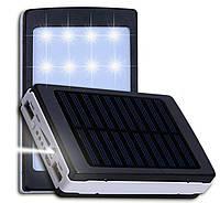 Батарея Power Bank 90000 mAh. Солнечная зарядка + ФОНАРИК Павербанк