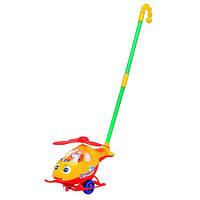 Детская игрушка Каталка на палочке  0302 Вертолет