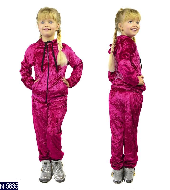 Детский спортивный костюм велюр для девочки рост от 98 до 122   Одесса 7 км