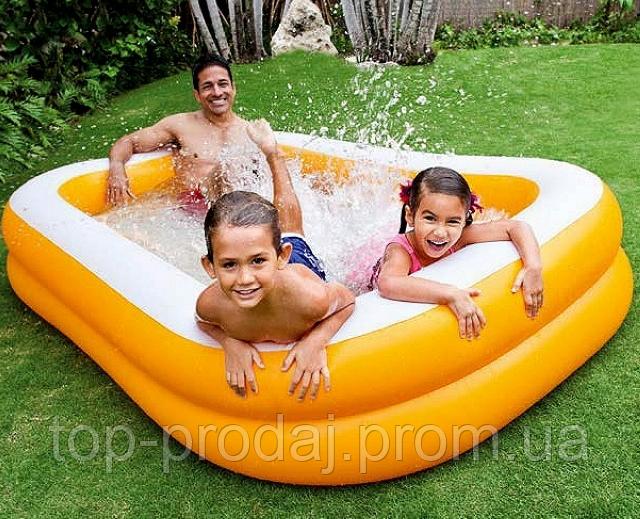 57181 бассейн 229*147*46см, Большой детский бассейн, Надувной летний бассейн, Бассейн семейный