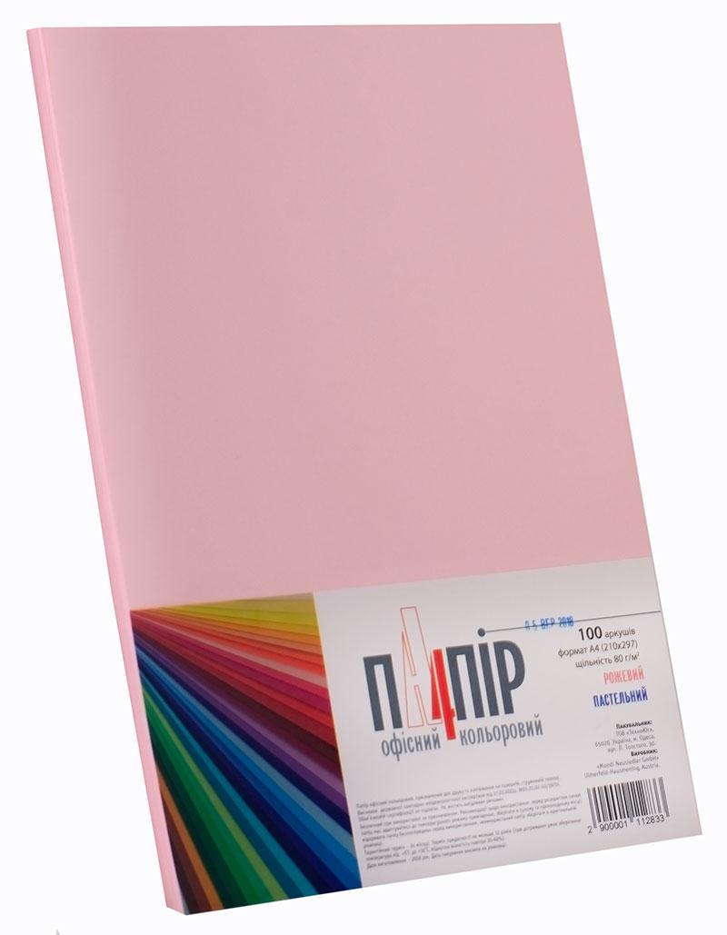 Бумага офисная цветная A4 Maestro Color PI25,пастель розовая
