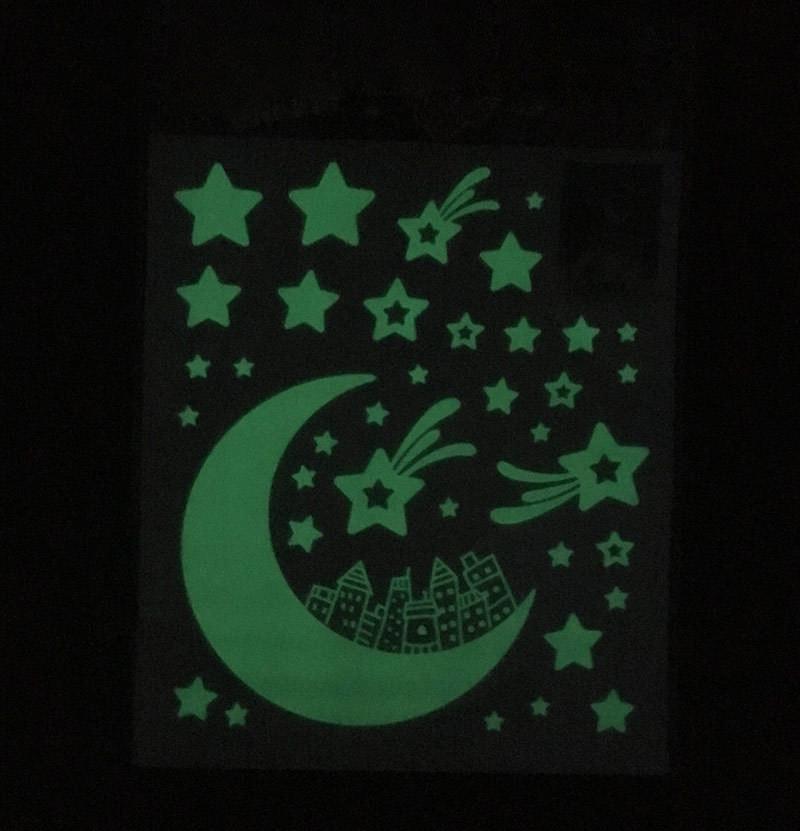 Светящийся темный дом Декор Сияющая звезда Люминесцентная наклейка - 1TopShop
