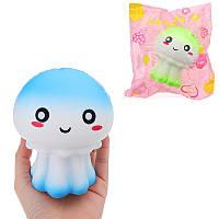 Медуза Squishy 12 * 10CM Медленное повышение Soft Сжатие Усилитель стресса Ударная игрушка Оригинальная упаковка 1TopShop