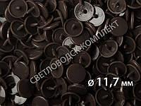 Кнопки пластик Т-5, 11,7 мм, цв. D06 темно-коричневый  (1000 шт / уп.), фото 1