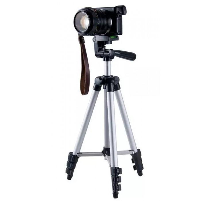Штатив для фотоапарата трипод 3110 срібний + чохол