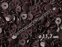 Кнопки пластик Т-5, 11,7 мм, цв. D15 свекольный (1000 шт / уп.), фото 1