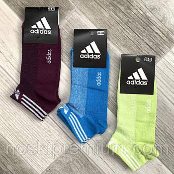 Носки женские спортивные х/б с сеткой Adidas, Athletic Sports, короткие, ассорти, 06002