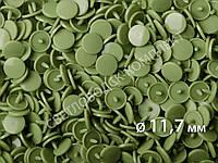 Кнопки пластик Т-5, 11,7 мм, цв. D27 светло-зеленый (1000 шт / уп.), фото 1