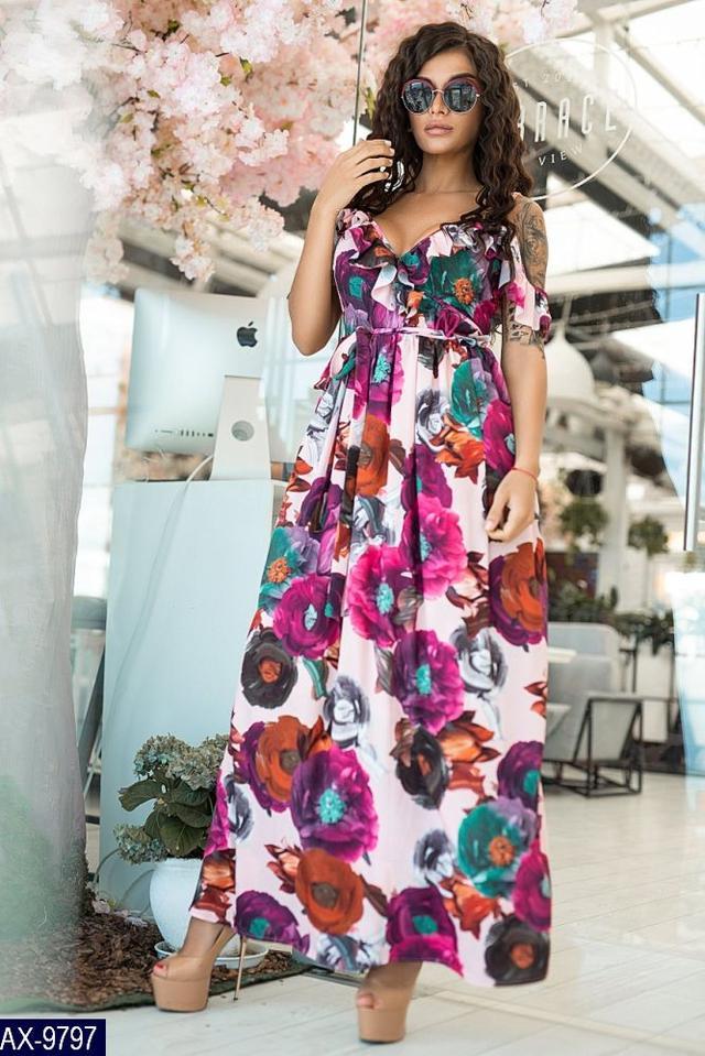 84671786448 Платья женские летние больших размеров. Летнее женское платье сарафан ...
