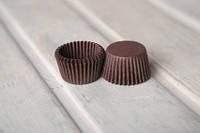Маленькие одноразовые формочки для выпечки и конфет, коричневые