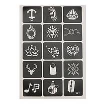 129Pcs Уникальный Тату Трафареты Временная Лицо для Животных Ногти С блестками - 1TopShop, фото 3