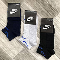 Носки женские спортивные х/б с сеткой Nike, Athletic Sports, Турция, ассорти, короткие, 10041