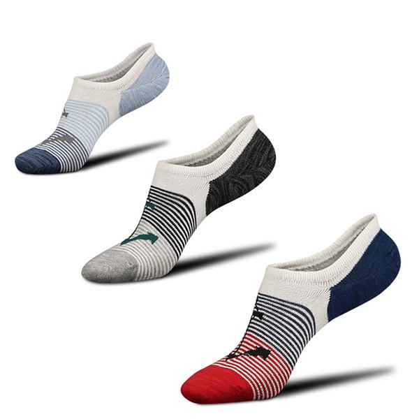 Мужчины Cottton Stripe Low Cut Ankle Носки Спортивная спортивная резинка. устойчивая к дезодорации No Show Носки - 1TopShop