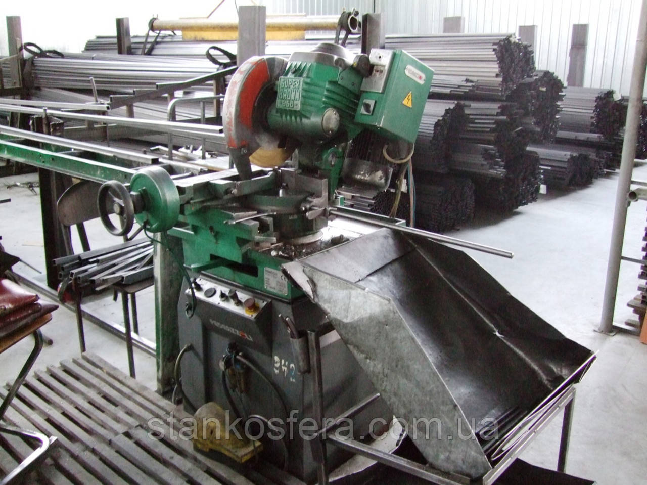 Отрезной станок бу для металлических труб и прута Pedrazzoli Super Brawn 350/60 SA (Италия), 2002 г.