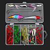 24/72 / 83Pcs / Set Soft Hard Рыбалка Приманка с Коробка Набор мелких крючков для приманки для бас-гитары с приманкой Набор - 1TopShop, фото 2