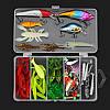 24/72 / 83Pcs / Set Soft Hard Рыбалка Приманка с Коробка Набор мелких крючков для приманки для бас-гитары с приманкой Набор - 1TopShop, фото 3