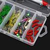 24/72 / 83Pcs / Set Soft Hard Рыбалка Приманка с Коробка Набор мелких крючков для приманки для бас-гитары с приманкой Набор - 1TopShop, фото 5