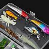 24/72 / 83Pcs / Set Soft Hard Рыбалка Приманка с Коробка Набор мелких крючков для приманки для бас-гитары с приманкой Набор - 1TopShop, фото 6