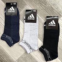 Носки мужские спортивные х/б с сеткой Adidas Originals, Турция, 41-45 размер, ассорти, 12601