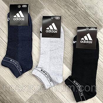 Шкарпетки чоловічі спортивні х/б з сіткою Adidas Athletic, розмір 41-44, короткі, асорті, 12601