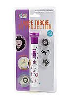 "Фонарик-проектор ""Цирк"" Jeux 2 Momes 15х2,5см Белый, Фиолетовый"