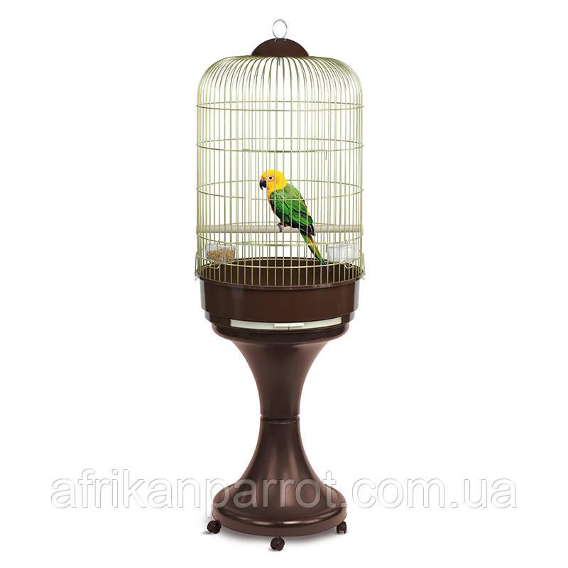 Клетка для крупных попугаев  Melania Special (FOP) круглая.53*96см латунь