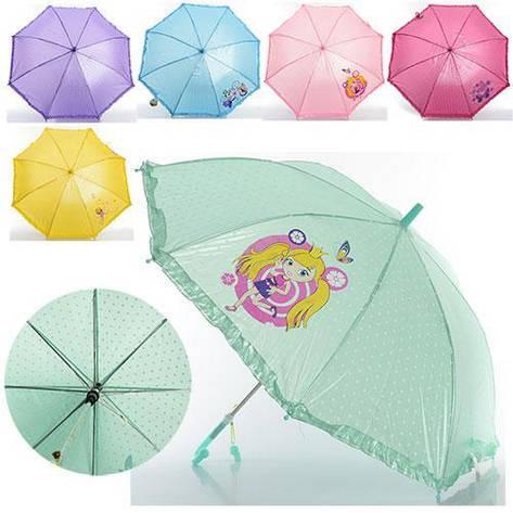 Зонтик детский со свистком, цвета разные MK 0208-1, фото 2