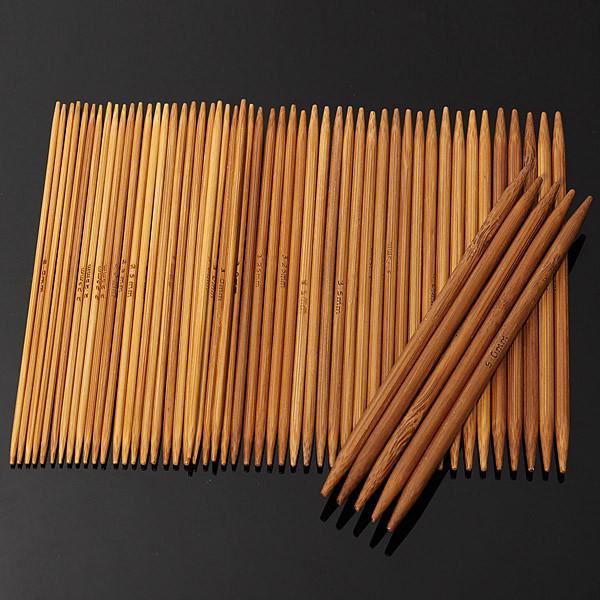 55pcs 11 размеры обугленного бамбука двойной вязальные спицы шляпа свитер шарф крючком - 1TopShop