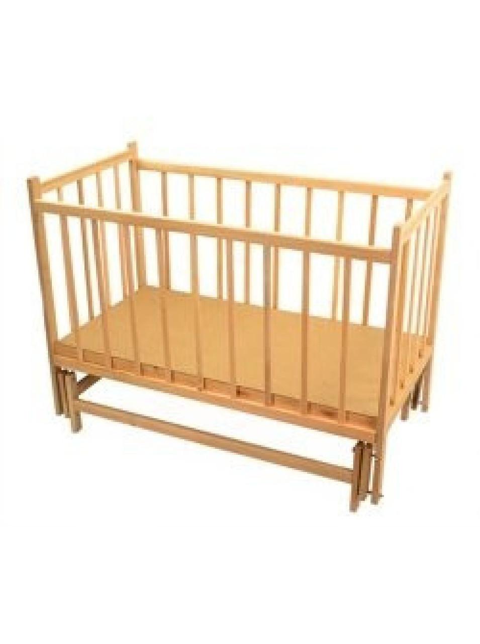 Детская кроватка шарнир-маятник зафиксированы боковины
