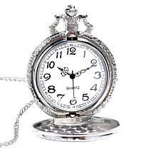 DEFFRUN Модный поезд Резные Открываемые Полые Стимпанк Карманные Часы Очаровательное Ожерелье Кварцевые Часы - 1TopShop, фото 2
