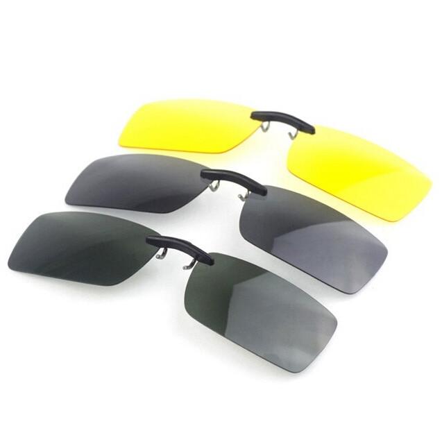 Поляризованные клип на солнцезащитные очки ночного видения очки клип водителя объектива - 1TopShop