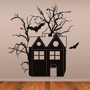 CreativeХэллоуинHauntedHouseBatПВХ Водонепроницаемы Стикер стены Съемные виниловые наклейки Art Art - 1TopShop, фото 2