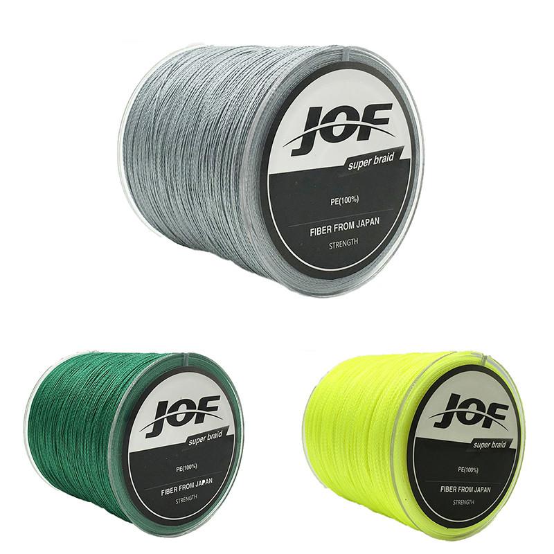JOF100MPEПлетеные4нити 18-70 LB Высокая чувствительность Super сильный Рыбалка Line Sea Рыбалка - 1TopShop