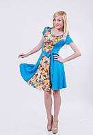 Платье летнее женское голубое, фото 1