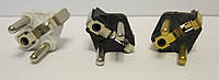 Комплектующая для литых электрических вилок (материал - латунь+покрытие, диаметр ножки - 5 мм, цвет пластика -, фото 1