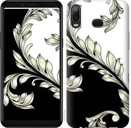 "Чехол на Samsung Galaxy M10 White and black 1 ""2805c-1661-328"""