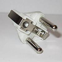 Комплектующая для литых электрических вилок (материал - латунь+покрытие, диаметр ножки - 5 мм, цвет пластика -
