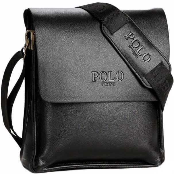 3b6dd2fd805e Мужская Черная Сумка-планшет Из Экокожи POLO КС2-5 — в Категории ...