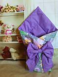 Конверт- одеяло для новорожденного всесезонный Мишки, фото 3