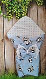 Конверт- одеяло для новорожденного всесезонный Мишки, фото 5